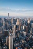Gratte-ciel de New York aériens Images stock