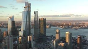 Gratte-ciel de New York City dans le début de la matinée banque de vidéos