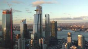 Gratte-ciel de New York City dans le début de la matinée clips vidéos