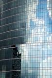 gratte-ciel de palais de l'Asie Bangkok dans une fenêtre le centre Image libre de droits