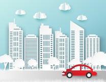 Gratte-ciel de papier Bâtiment d'Achitectural Ville moderne illustration libre de droits