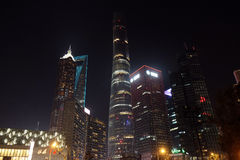 Gratte-ciel de place financière du monde de Changhaï Image libre de droits