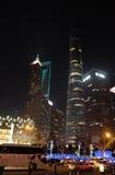 Gratte-ciel de place financière du monde de Changhaï Photos libres de droits