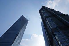 Gratte-ciel de place financière du monde de Changhaï Images libres de droits