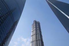 Gratte-ciel de place financière du monde de Changhaï Photographie stock