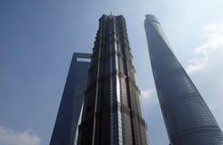 Gratte-ciel de place financière du monde de Changhaï Photographie stock libre de droits