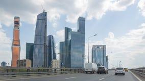 Gratte-ciel de ville de Moscou, Russie photos libres de droits