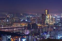Gratte-ciel de ville de Séoul Photo stock