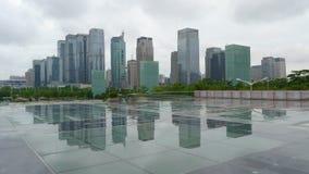 Gratte-ciel de ville shenzhen Images libres de droits