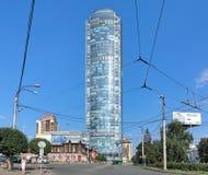 Gratte-ciel de Vysotsky à Iekaterinbourg, Russie Photos stock