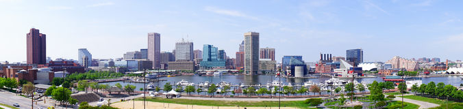 Gratte-ciel du centre de Baltimore photo libre de droits