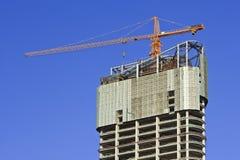 Gratte-ciel en construction au centre de la ville de Dalian, Chine Images libres de droits