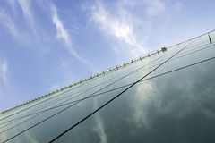 Gratte-ciel en verre Photographie stock