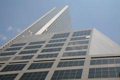gratte-ciel en verre de point de vue Photographie stock