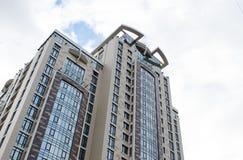 Gratte-ciel en verre modernes de bâtiment Photos libres de droits