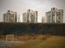 3 gratte-ciel en Zagreb Croatia Photographie stock