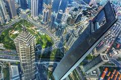 Gratte-ciel Liujiashui Changhaï Chine de place financière du monde Photos stock