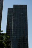 Gratte-ciel modernes d'affaires, hauts bâtiments en verre, archit moderne Photo stock