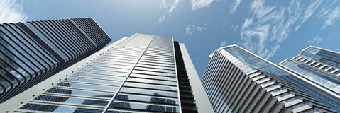 Gratte-ciel Panorama des gratte-ciel modernes Images stock