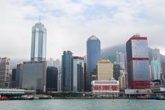 Gratte-ciel sur Hong Kong Island Image stock