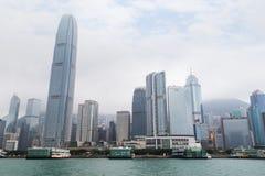 Gratte-ciel sur Hong Kong Island Photos stock