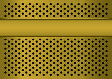 Gratted gold banner Royalty Free Stock Photography