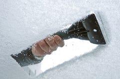 Grattement de glace Photographie stock libre de droits