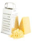Grattugia e formaggio Immagini Stock Libere da Diritti
