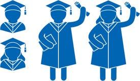 Gratuate-Studenten stock abbildung