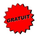 Gratuit Sign. Red gratuit sign - Web button - Internet design Stock Photos