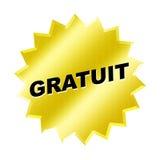 Gratuit Sign. Yellow gratuit sign - web button - internet design Royalty Free Stock Photos