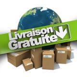Gratuite international de livraison Photos libres de droits
