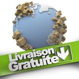 Gratuite mondiale del livraison Immagine Stock Libera da Diritti