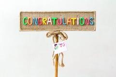gratulacje zdjęcie stock