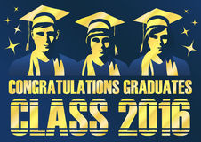Gratulacje absolwentów klasa 2016 plakat Obrazy Stock