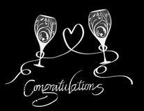 Gratulacje grzanka szampan Fotografia Royalty Free