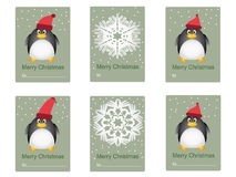 Gratulacje karta z pingwinami Obrazy Royalty Free