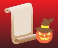 Gratulacje na Halloweenowym dyniowym kapeluszu Zdjęcie Royalty Free