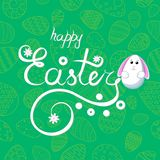 Gratulacje na wielkanocy Wzór na zielonym tle jajka royalty ilustracja