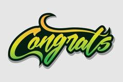 Gratulacje - rocznika kartka z pozdrowieniami typografia Fotografia Stock
