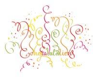Gratulacje wszystkie wakacje Obraz Royalty Free