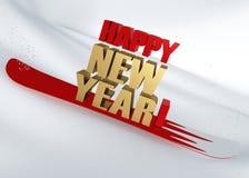 gratulacyjny szczęśliwy nowy rok Obrazy Stock