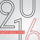 Gratulationer - abstrakt Retro kort för hälsning för lyckligt nytt år för stil eller bakgrund, idérik designmall - 2016 Royaltyfri Bild