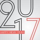 Gratulationer - abstrakt Retro kort för hälsning för lyckligt nytt år för stil eller bakgrund, idérik designmall - 2017 Royaltyfri Fotografi