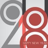 Gratulationer - abstrakt Retro kort för hälsning för lyckligt nytt år för stil eller bakgrund, idérik designmall - 2018 Royaltyfri Fotografi