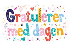 Gratulerer med dagen Happy Birthday in Norwegian Royalty Free Stock Image