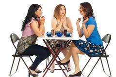 gratuluje przyjaciela ich dwa kobiety Zdjęcie Royalty Free