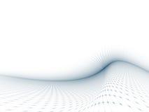 Grau-Blaue gebogene Rasterfeld-Schablone Lizenzfreie Stockfotos