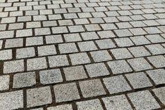 Grau cobbles strukturierten Hintergrund Lizenzfreie Stockbilder