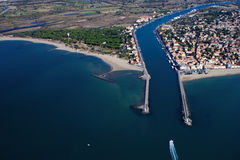 Grau d'Agde - South of France. Aerial view Royalty Free Stock Photography